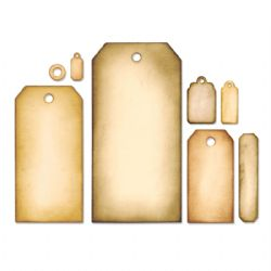 658784 Sizzix Framelits Die Set 8PK - Tag Collection by Tim Holtz